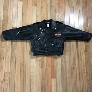 Boys Harley-Davidson Faux Lather Jacket